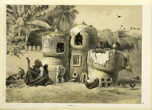 Viviendas campesinas en el Alto Egipto 1851