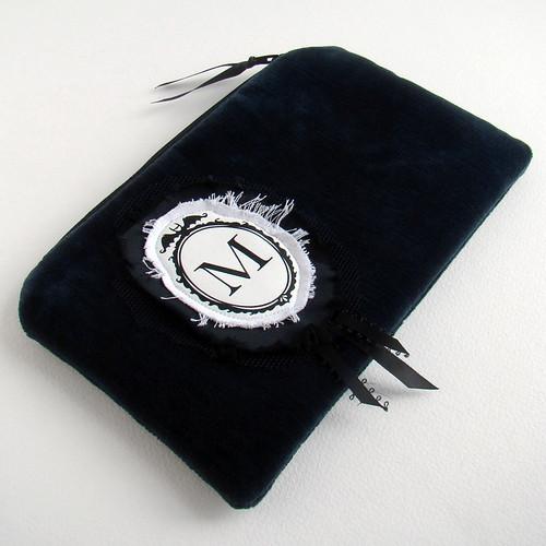 M monogram pouch