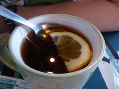 Breakfast tea. (lovebirds & seahorses) Tags: cafe lemon tea spoon norwich mug breakfasttea franksbar