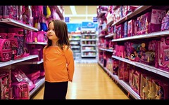 Wonderment (isayx3) Tags: pink girl 35mm shopping toys store nikon dolls angle wide tuesday nikkor f18 toysrus d3 dx bokehy