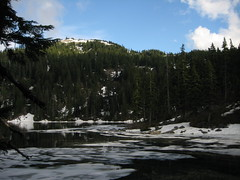Mason Lake with little remaining ice