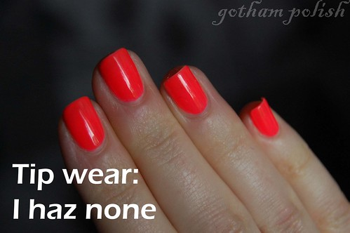 American Apparel neon red no tip wear