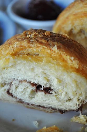 cinnamon croissant sliced