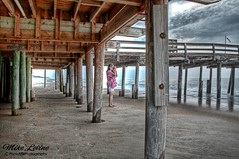 Nags Head Pier (mikeyasp) Tags: ocean morning pier early wooden fishing hdr pilons
