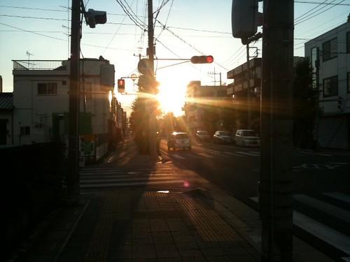 今日の夕焼け@熊谷市