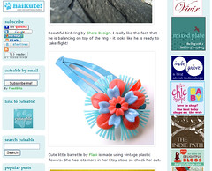 My barrette @ Cuteable.com!