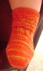 twisty toddler sock front