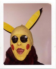 Pikachu (Luke Stephenson) Tags: face japan polaroid paint cartoon manga odd pikachu pokemon colourful bigshot