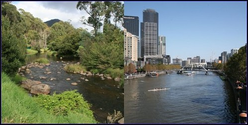 The Yarra - two views