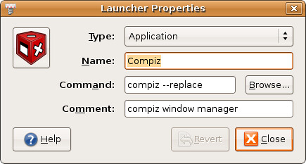 Screenshot-Launcher Properties