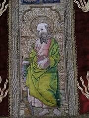 Ludham Church Textiles Exhibition (SueWalkerWhite) Tags: uk church saint book embroidery norfolk bald stpaul medieval sword textiles chasuble ludham