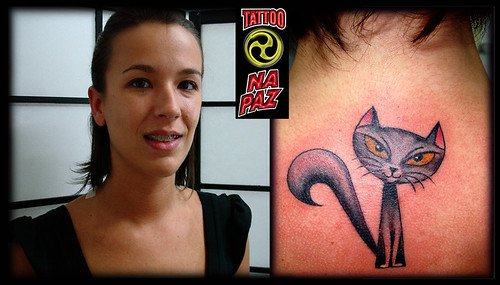 A Tatuagem de gato , Lucky Cat Tattoo by Pablo Dellic