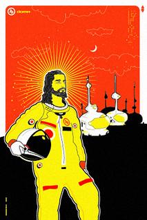 Astronaut Jesus // Silkscreen