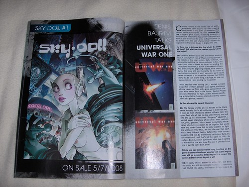 "Whoops! Marvel's ""Soleil"" sampler contains the uncensored ""Sky Doll"" artwork that they didn't use on the book itself."