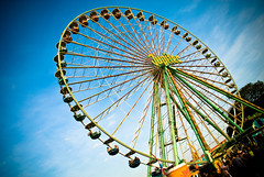 Big wheel (manganite) Tags: blue sunset sky topf25 colors wheel clouds digital germany geotagged dawn lights evening big construction topf50 nikon colorful europe bonn tl steel perspective bluesky ferris event ferriswheel onecolor d200 nikkor dslr funfair vignette kirmes thecolorblue rheinaue jahrmarkt northrhinewestphalia 18200mmf3556 utatafeature manganite nikonstunninggallery rheininflamen geo:lat=50709891 geo:lon=7144986 repost1 date:year=2008 date:month=may date:day=3 format:ratio=32 repost2 stadtgetty2010