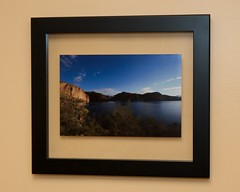 Canyon Lake in a Floating Frame (Daniel Greene) Tags: home project photograph framing
