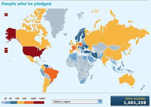 1 million pledges