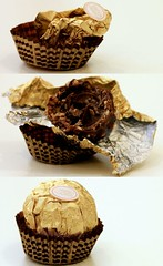 My ferrero life cycle (RoOoNa) Tags: life stilllife food white macro gold one golden yummy nuts eaten takenbyme cycle 2008 ferrero crunchy rocher lifecycle ferrerorocher rona rooona