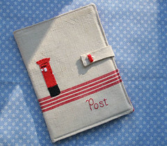 Post-pocketbook (ninimakes) Tags: embroidery vintagefabric pocketbook notecards