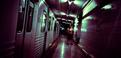 nocturne (serhio) Tags: panorama toronto ontario canada abandoned station digital train canon dark subway eos rebel bay metro ghost platform haunted explore lower blanche nuit nocturne sergei 2007 xti 400d yahchybekov serhio