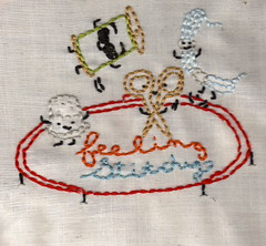Thimble Guy and Thread Man are back, but now they brought friends:Feeling Stitchy Banner Contest #2