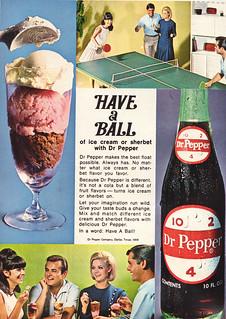 Dr Pepper & Ice Cream Ad 1969