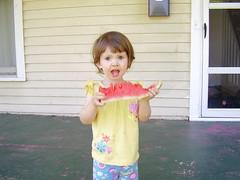 Lydia mid-bite