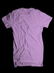 Wrinkled Back- Light Purple (ir0cko) Tags: male back threadless wrinkled onblack lightpurple blanktee