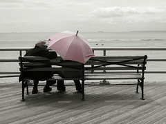 You and Me ([SpAb]) Tags: ocean usa ny newyork brooklyn bench coneyisland pier lyrics seaside sand onthebeach atmosphere quay together ontheroad youme lifehouse peopleofnewyork