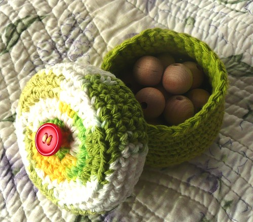 Cotton Crochet Pot