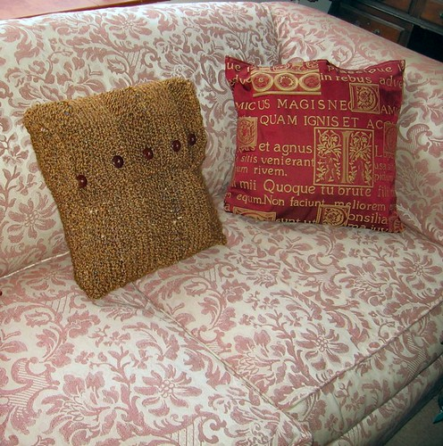 buttoned cushion cover