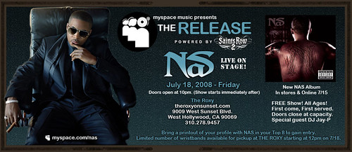 Myspace Music Presents: NAS 7/18