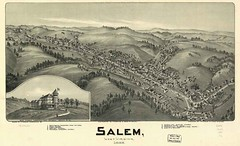 WV Salem 1899 (snapshotsofthepast.com) Tags: city art wall painting print poster photography photo artwork view map antique framed fine victorian panoramic historic canvas reproduction birdseye lithograph giclee