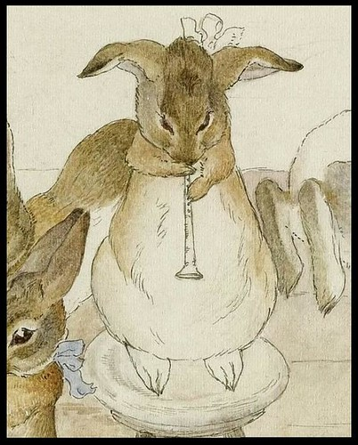 The Rabbits' Christmas Party - Dancing to a Piper (detail)