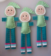 christmas elves (paper-and-string-on-flickr) Tags: christmas uk cute handmade sewing decoration craft felt ornament paperandstring