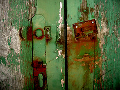 rusted lock (freedom) Tags: door green broken freedom rust lock decay hannah chipped jaded oldpaint  freedom songoffreedom freedom