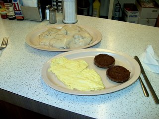 Biscuits and gravy special. Darcy Lynn's Snack Shop. Lyons Ilinois.