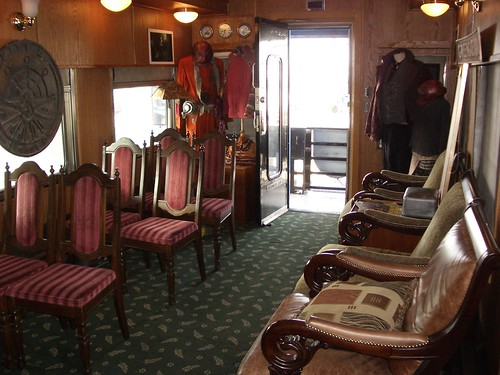 Train Chartering - Private rail car Tioga Pass used  for The City of Ember - Props