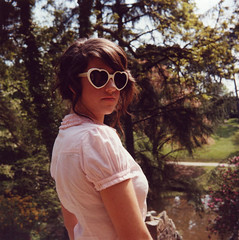 60s Jen (mister sullivan) Tags: uk summer sun 120 film swansea wales vintage hearts glasses 60s shades retro lubitel medium format 166b