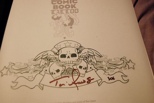 Limited Edition Comic Book Tattoo (signed page)