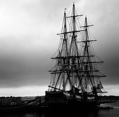 Down to the Sea (Jeff Weeks Photography) Tags: blackandwhite rain friendship salem derbywharf tothefurthestportofthericheast