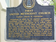 First United Methodist Church Enterprise AL Historic Marker