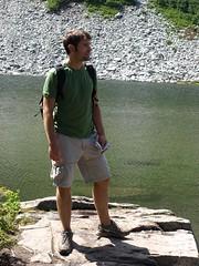 John at Squaw Lake (Chasten) Tags: hiking deceptionpass cathedralrock hyaslake