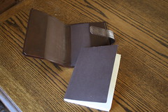 Leather book cover and insert