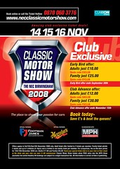 Reduced Ticket prices for the NEC Classic Car Show 2008