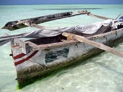 Zanzibar dhow (danieleb80) Tags: ocean africa blue beach water blu indianocean zanzibar dhow paradisebeach tanzanzia