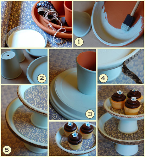 DIY Cake Stand Instructions