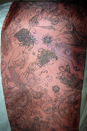 antique pink mermaid scarf