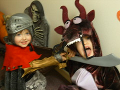 Dragon Slayer (whispers of silence) Tags: halloween boys up costume dragon armor sword knight armour shining dressed 2007