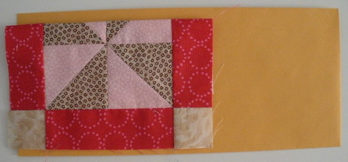 Fold the blocks to fit the envelope
